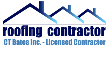 CT Bates Inc. Roofer,  Roofing Contractor Logo